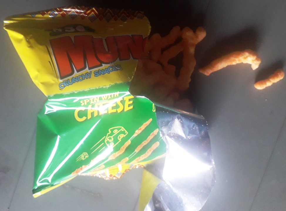 Munch it cheese flavour with chips outside